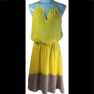 Bar lll Yellow and Gray Short Casual Dress